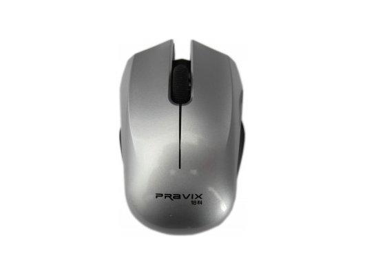 Мышь беспроводная Pravix JRM-W09 Цвет серебристый глянцевый.