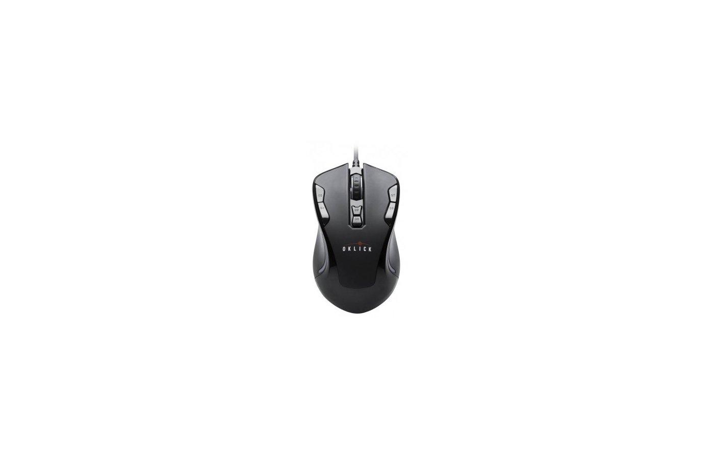 Мышь проводная Oklick 705G черный оптическая (3000dpi) USB игровая (8but)