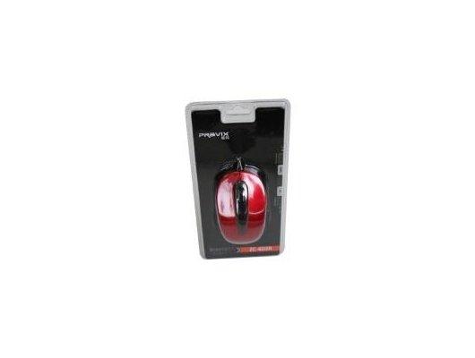 Мышь проводная Pravix ZC-603R, красный глянец, провод 1.5 м, USB-порт