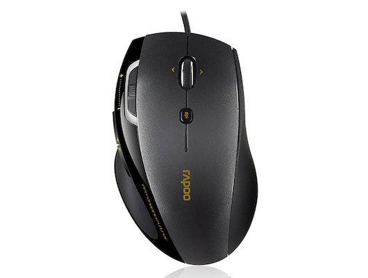 Мышь проводная Rapoo 6200 черный оптическая (3000dpi) USB2.0 (7but)