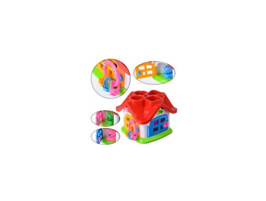 Игра Полесье 9159 Логическая игрушка Теремок в сетке