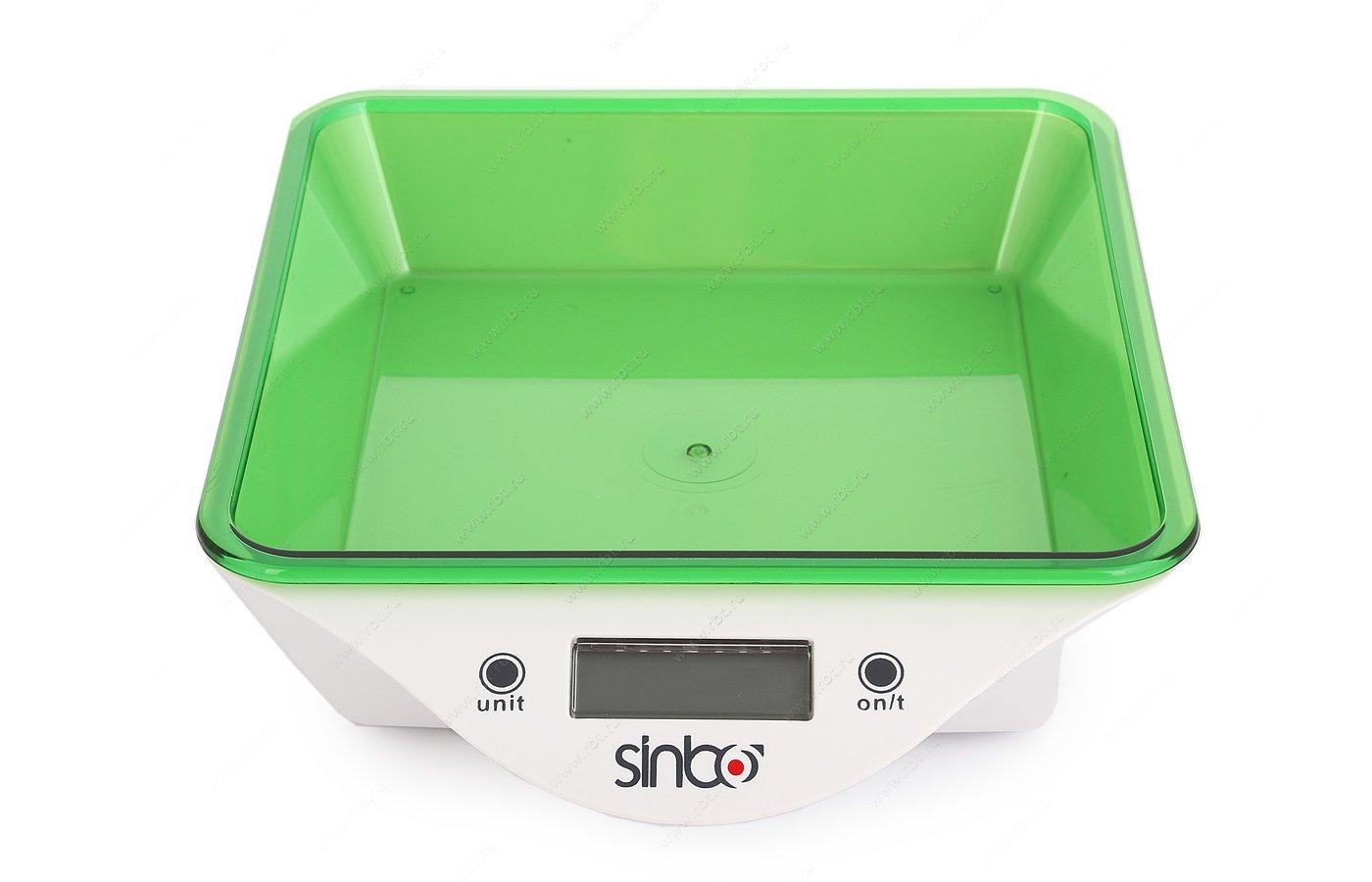 Весы кухонные SINBO SKS-4520 зеленый
