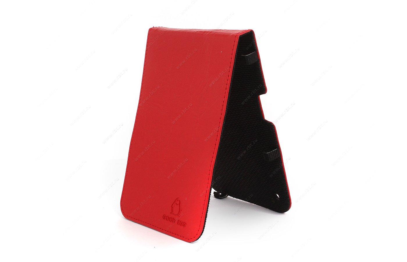 Чехол GoodEgg для PocketBook 650 кожа красный (GE-PB650LIR2210)