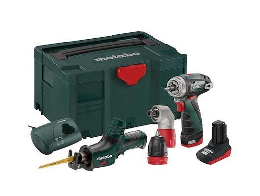 Дрель METABO Combo Set 2.2 685054000: BS+ASE+Angle+1x2.0Ач+1x4.0Ач в кейсе MetaLoc