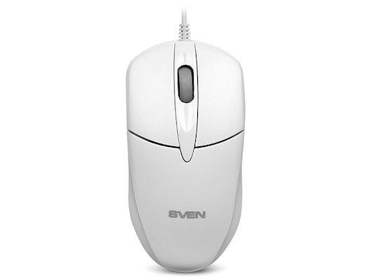 Мышь проводная SVEN RX-112 USB белая
