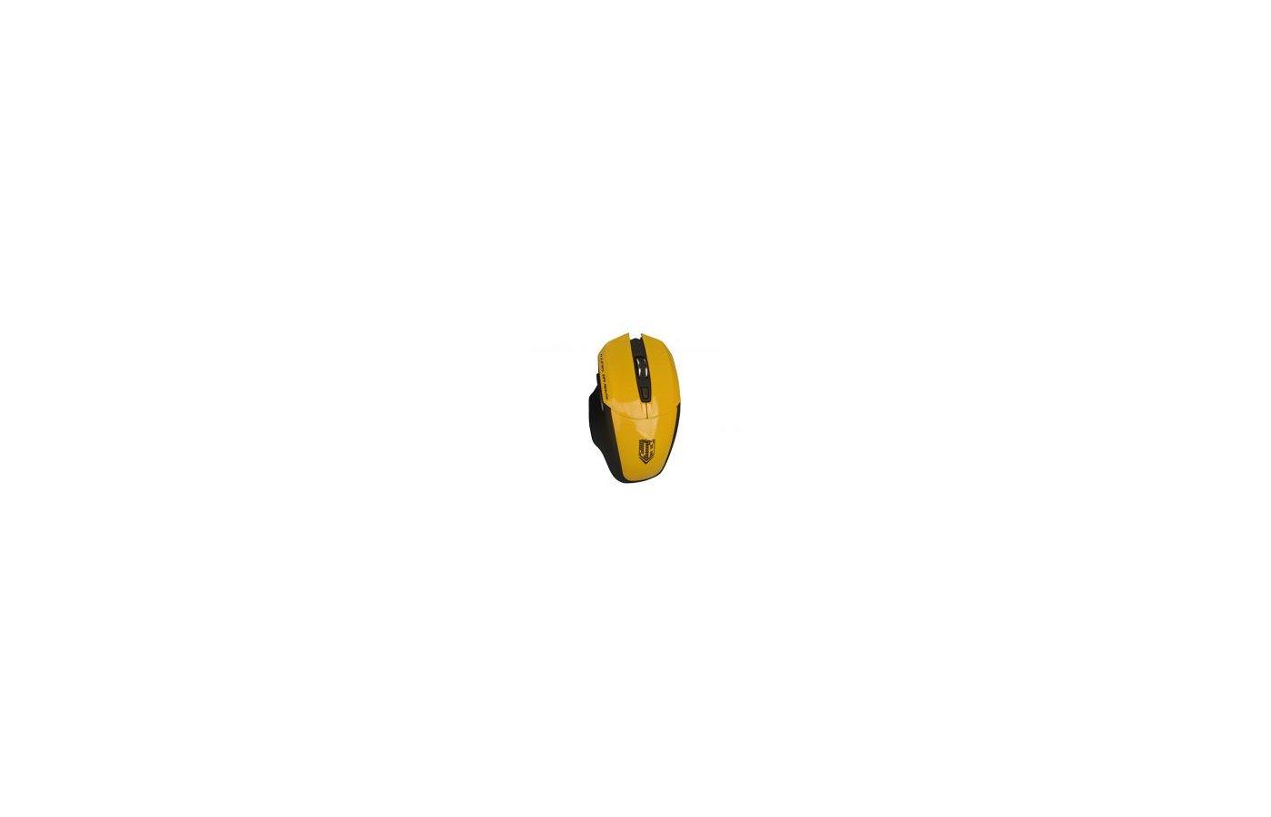 Мышь беспроводная Jet.A OM-U38G Yellow Comfort (1200/1600/2000 dpi, 5 кнопок, USB, бат. ААА 2шт)