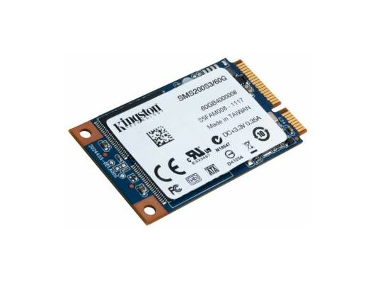 SSD жесткий диск Kingston mSATA 60Gb SMS200S3/60G SSDNow mS200 w510Mb/s r550Mb/s MLC