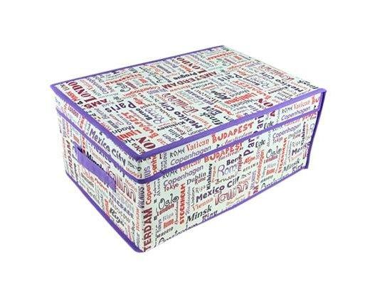 Емкости для хранения одежды VETTA 457-147 City Кофр-короб для хранения спанбонд влагостойкий 30x45x20см большой