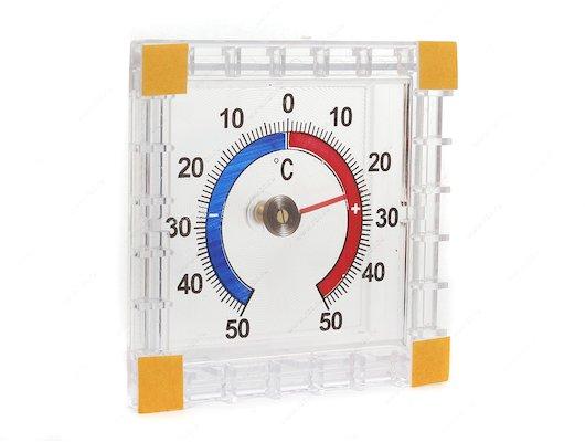 Термометр Термометровый завод ТББ оконный Биметаллический квадратный