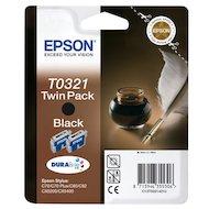Фото Картридж струйный Epson C13T03214210 картридж Black для Stylus Color C70/C80/C82 (double pack) (черный)
