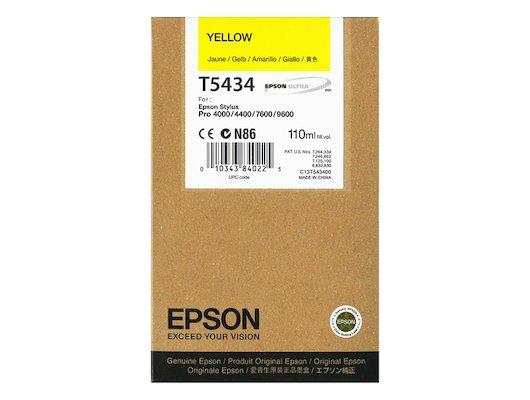 Картридж струйный Epson C13T543400 картридж (Yellow для Stylus PRO 7600/9600 (желтый))