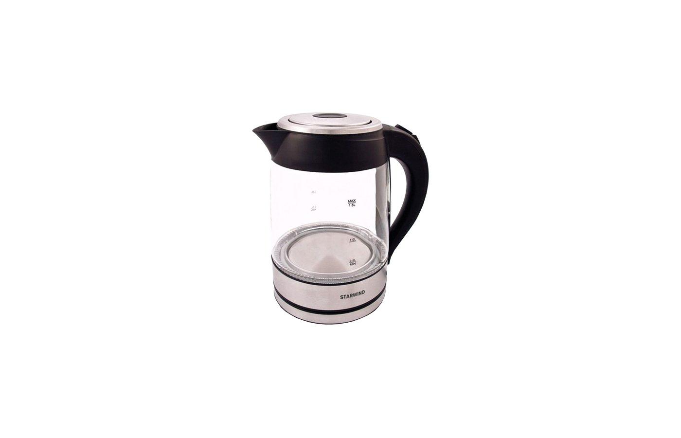 Чайник электрический  StarWind SKG 4710 серебристый/черный