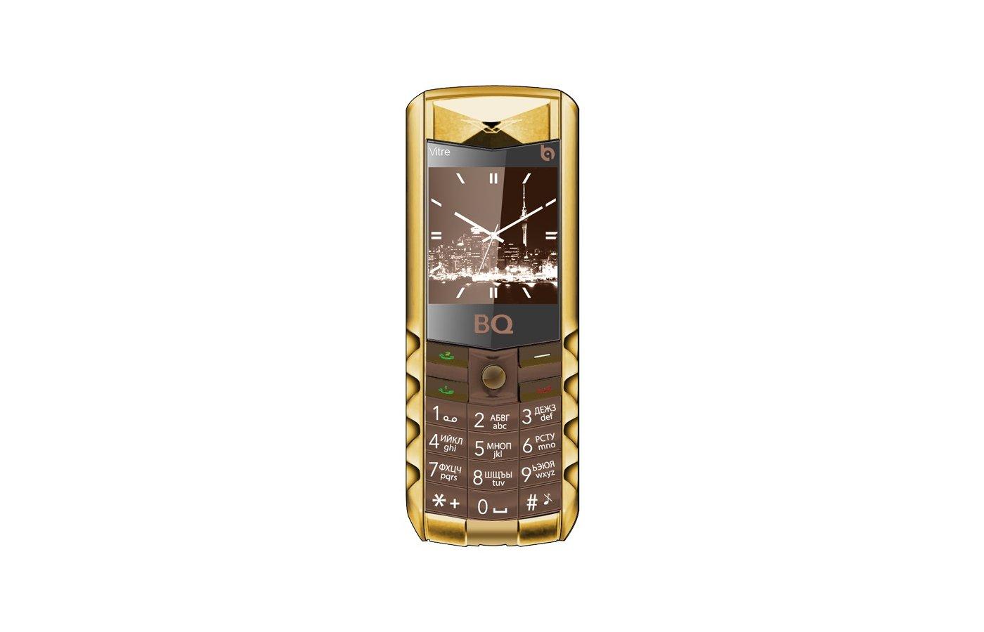 Мобильный телефон BQ BQM-1406 Vitre Gold Edition Brown