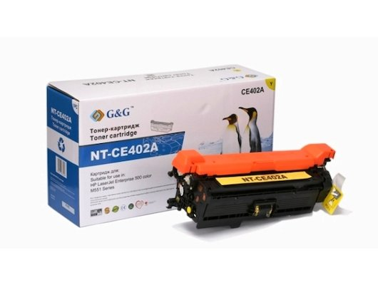 Картридж лазерный GG NT-CE402A Совместимый желтый для HP LaserJet EGG NTerprise 500 color M551 (6000стр)