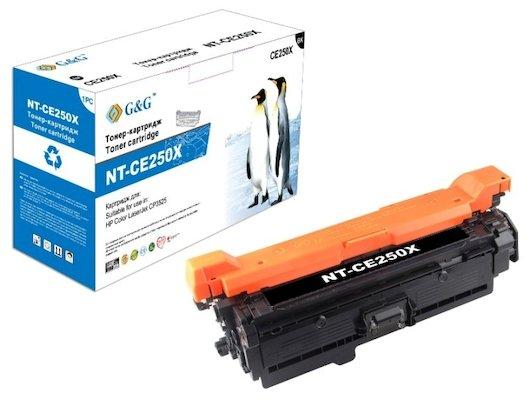 Картридж лазерный GG NT-CE250X Совместимый черный для HP LaserJet CP3525 (12600стр)