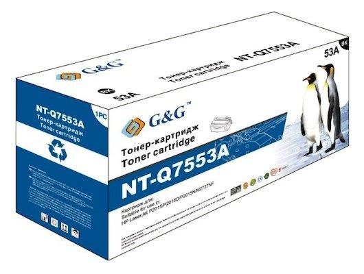 Картридж лазерный GG NT-Q7553A Совместимый для HP LaserJet P2015 M2727 (3000стр)