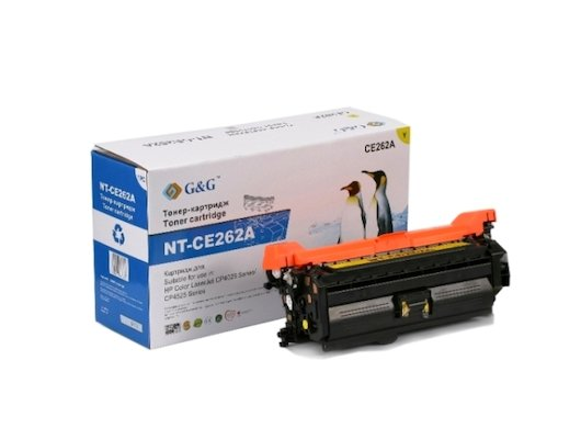 Картридж лазерный GG NT-CE262A Совместимый желтый для НР Color LaserJet CP4025/CP4525 (11000 стр)
