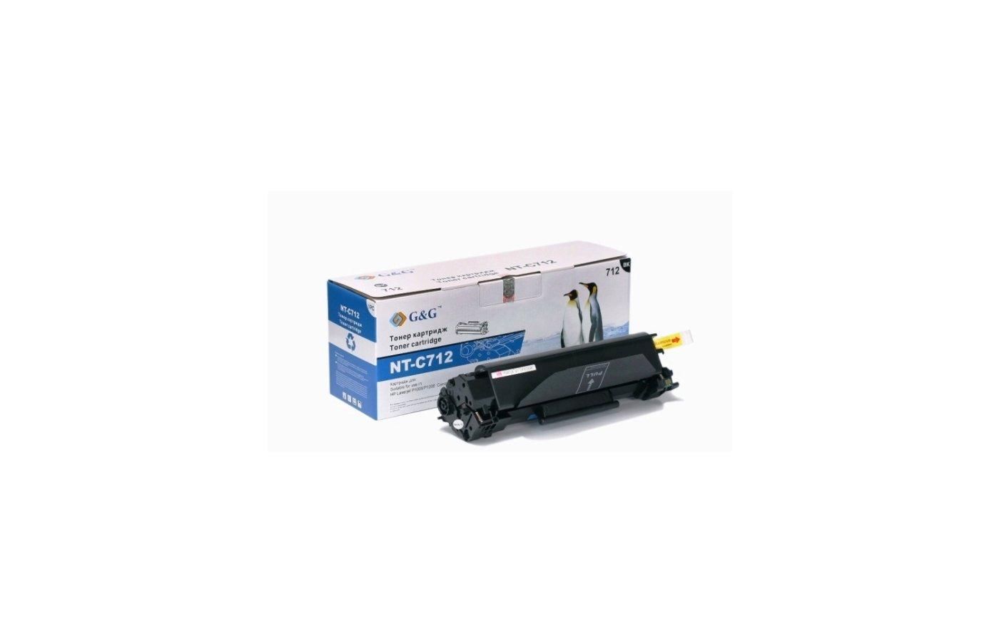 Картридж лазерный GG NT-C712 Совместимый для HP Laserjet P1005/P1006 Canon LBP-3050/3100/3150/3010/3018 (1500 стр)