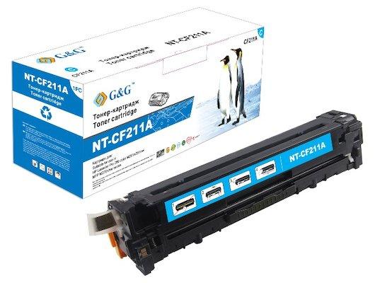 Картридж лазерный GG NT-CF211A голубой для НР LaserJe tPro200 Color M251n/M251nw/M276n/M276nw