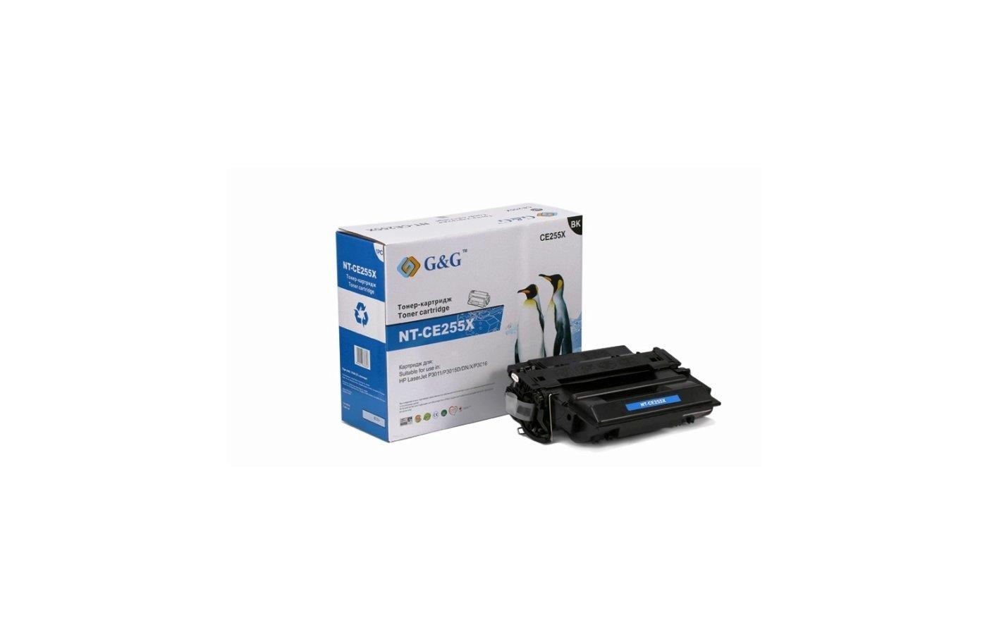 Картридж лазерный GG NT-CE255X Совместимый для HP LaserJet P3011/P3015/P3016 (12500стр)