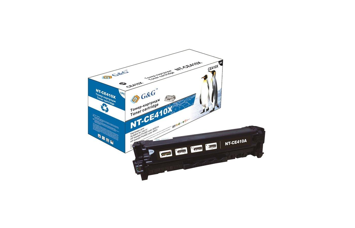 Картридж лазерный GG NT-CE410X черный для HP LaserJet Pro 300 color M351 Pro400 color M451