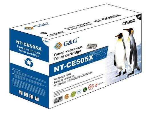Картридж лазерный GG NT-CE505X Совместимый для HP LaserJet P2055d/P2055dn/P2055x (6500стр)