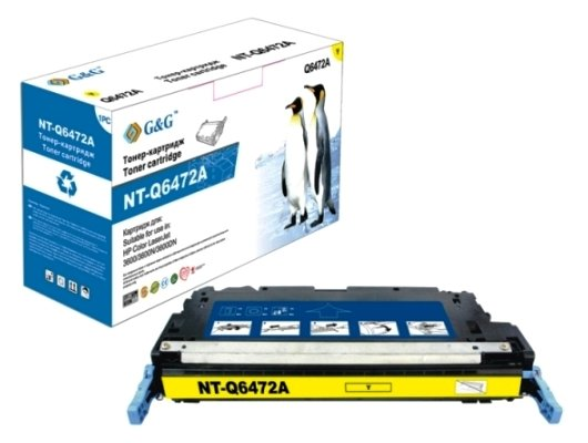 Картридж лазерный GG NT-Q6472A Совместимый желтый для НР Color LaserJet 3600/3800 CP3505 (4000стр)