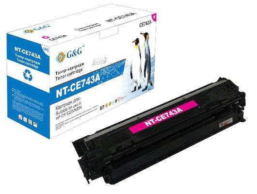 Картридж лазерный GG NT-CE743A Совместимый пурпурный для НР LaserJet CP5225/CP5225N/CP5225DN (7300стр)