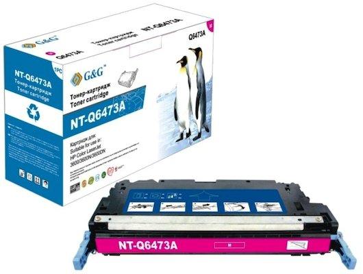 Картридж лазерный GG NT-Q6473A Совместимый пурпурный для НР Color LaserJet 3600/3800 CP3505 (4000стр)