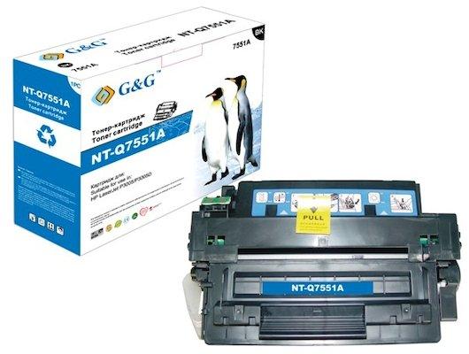 Картридж лазерный GG NT-Q7551A Совместимый для HP LaserJet P3005/P3005D (6500стр)