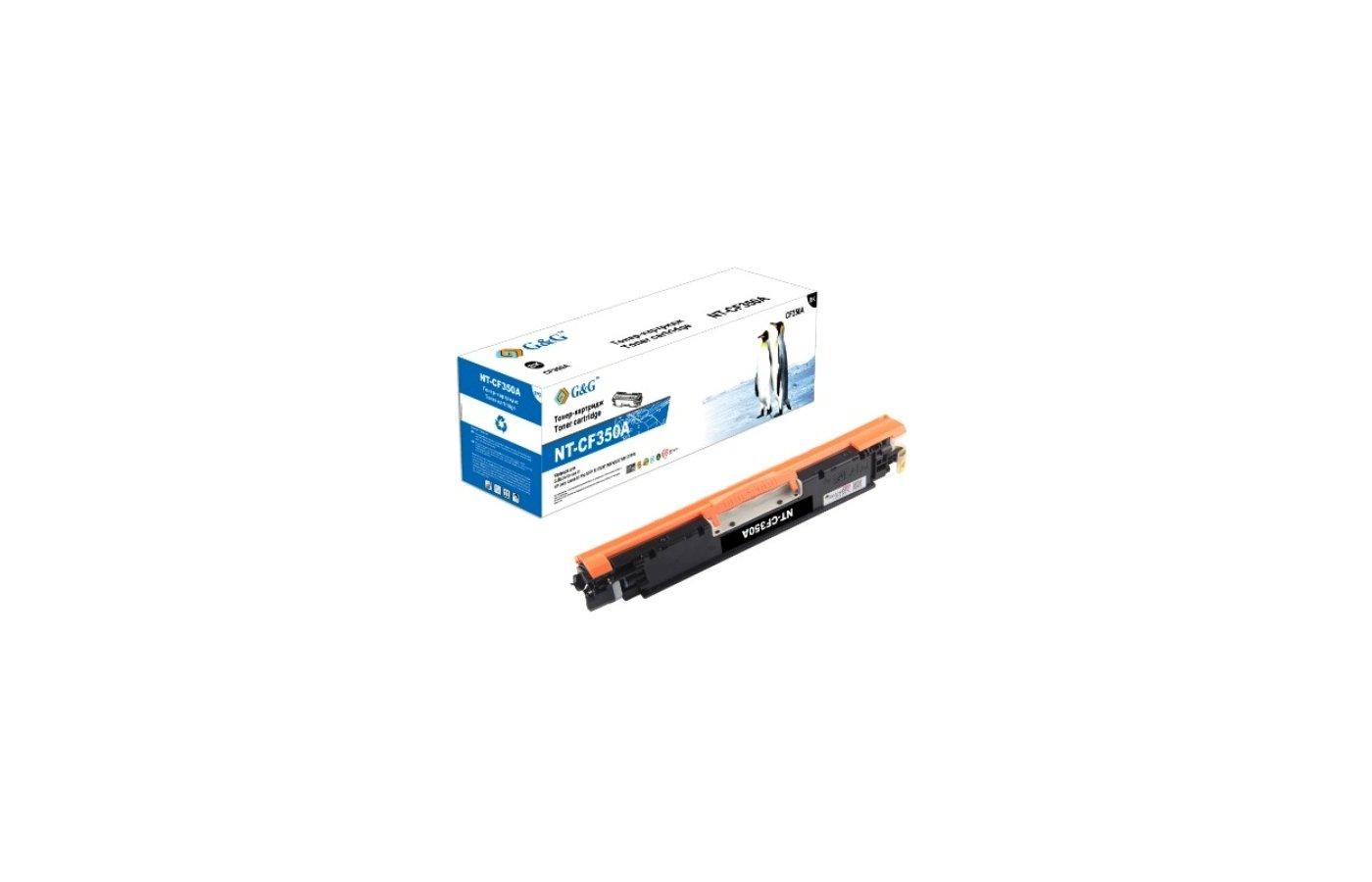 Картридж лазерный GG NT-CF350A черный для НР LaserJet Pro Color M176/176FN/M177/M177FW (1300стр)