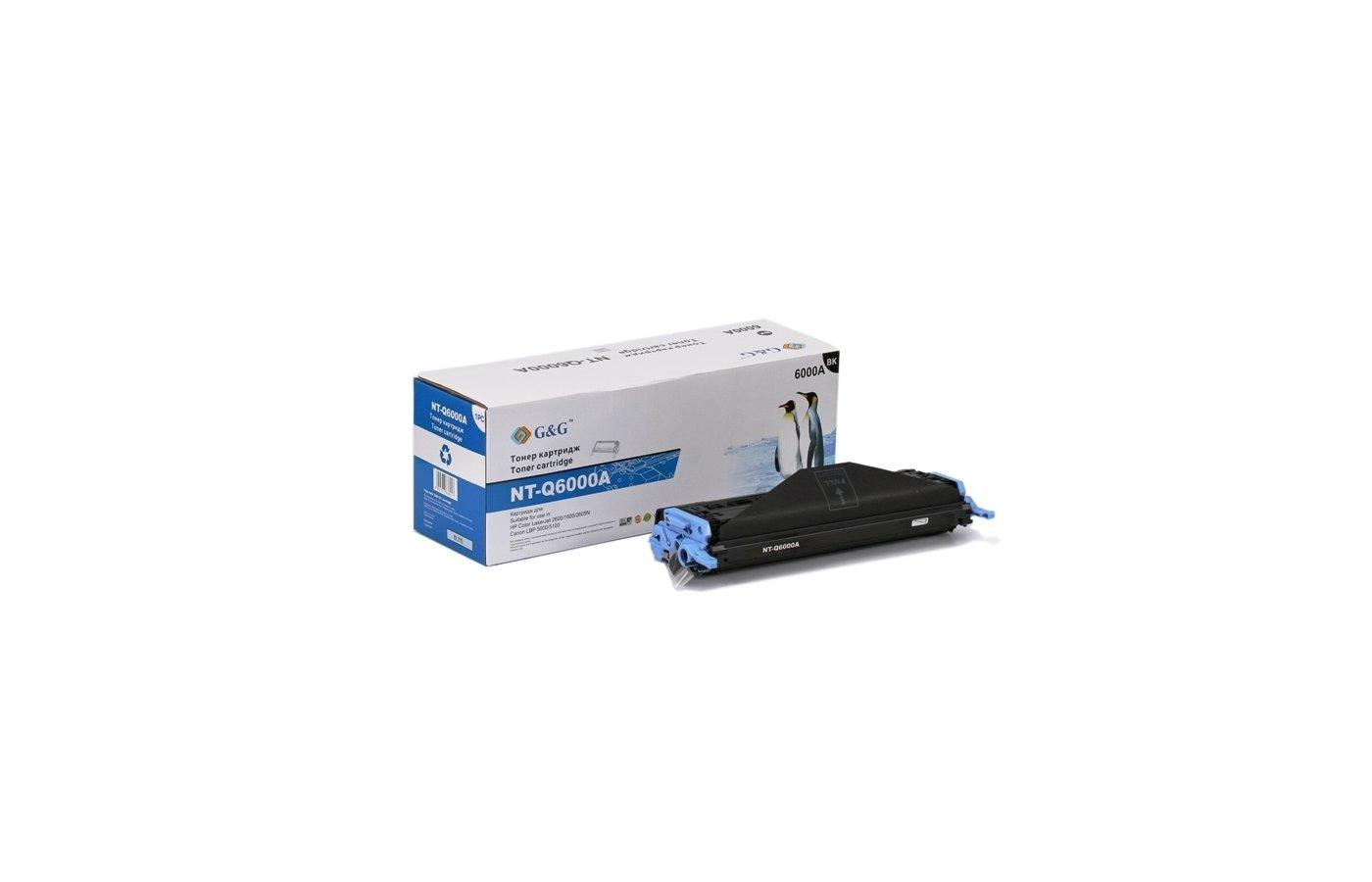 Картридж лазерный GG NT-Q6000A Совместимый черный для НР Color LJ 1600/2600/2605n Canon LBP-5000/5100 (2500стр)