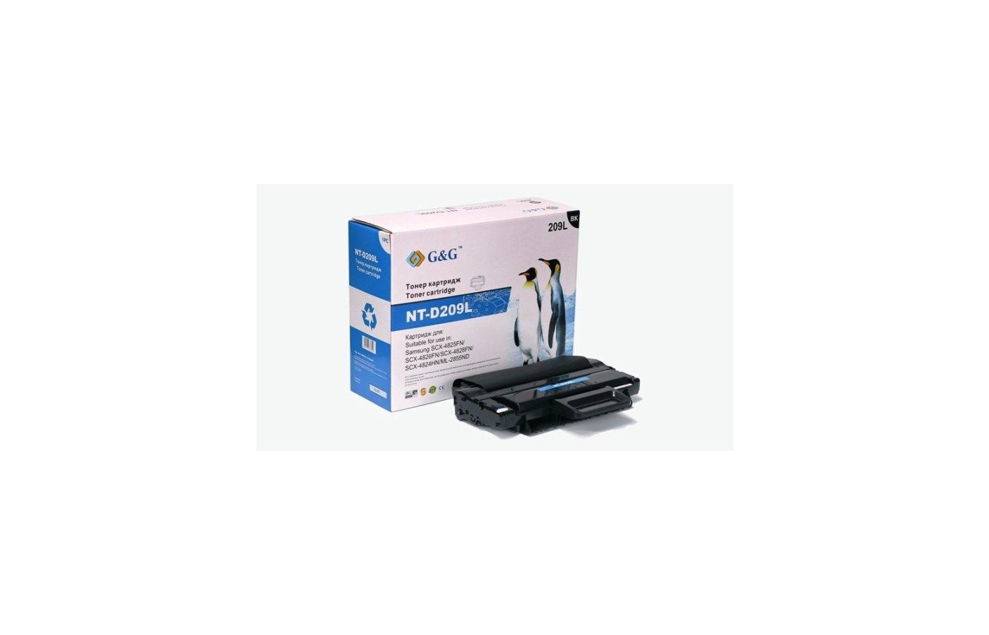 Картридж лазерный GG NT-D209L Совместимый для Samsung ML-2855ND SCX-4824FN/4825FN/4826FN/4828FN (5000стр)