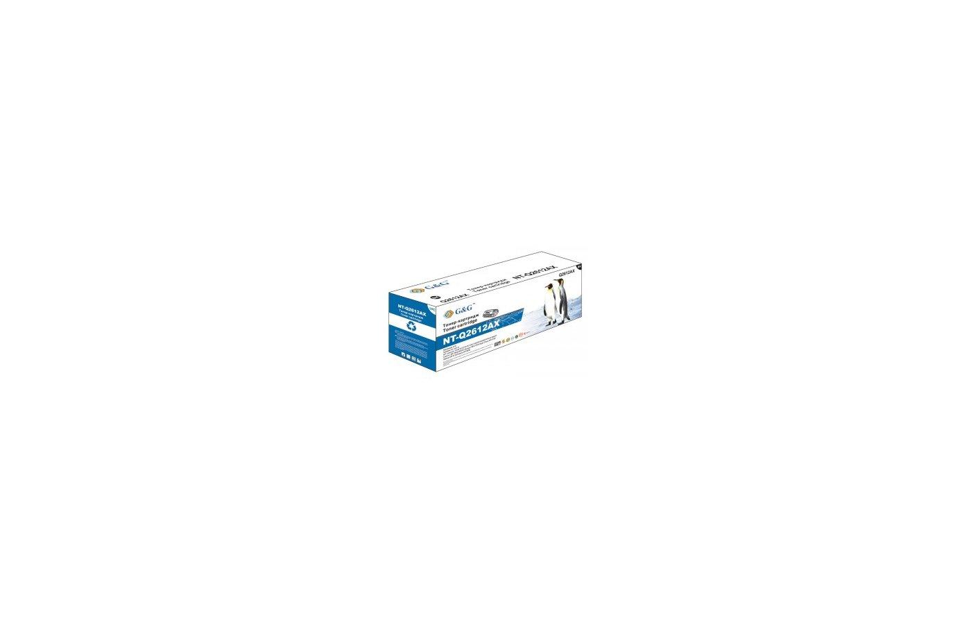 Картридж лазерный GG NT-Q2612AX Совместимый для HP LaserJet 1020/1022/3015/3020/3030 M1005/1319 (3000стр)