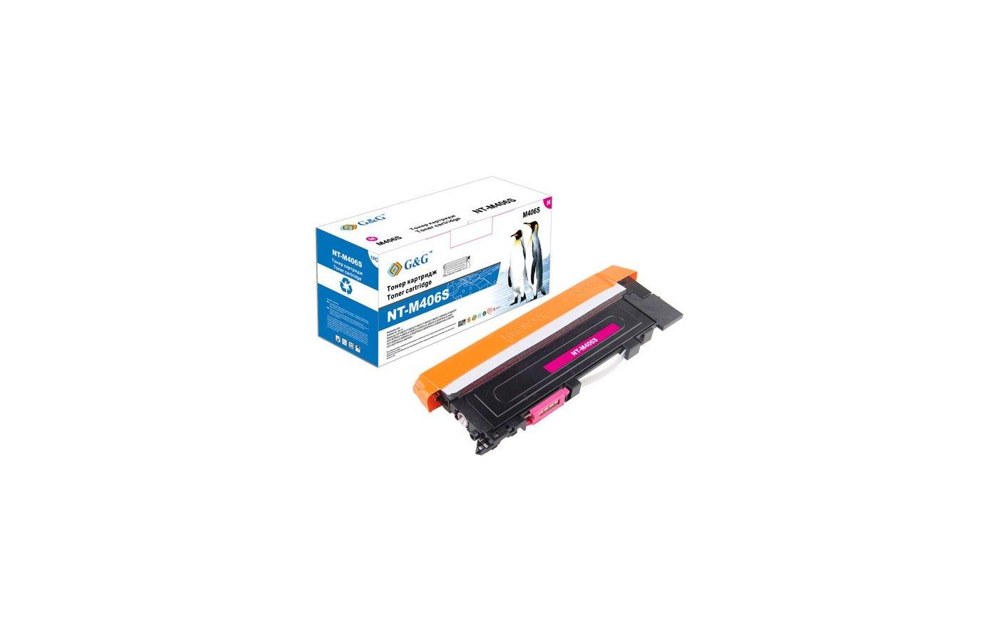 Картридж лазерный GG NT-M406S Совместимый пурпурный для Samsung для CLP-360/365 CLX-3300/3305 SL-C460 (1000стр)