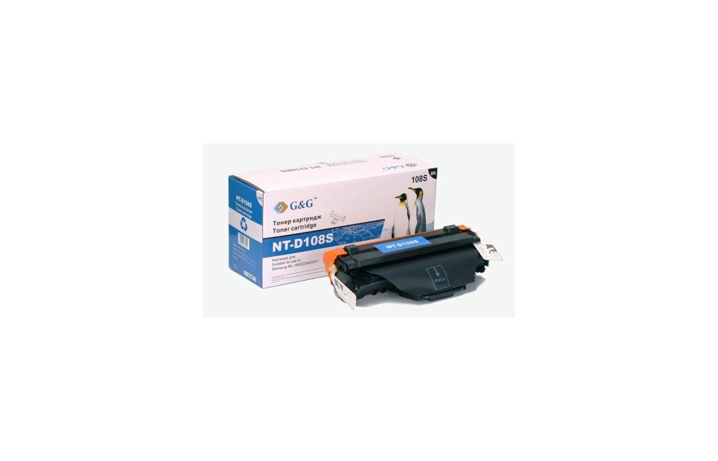 Картридж лазерный GG NT-D108S Совместимый для Samsung ML-1640/2240/2241 (1500стр)