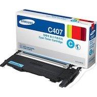 Фото Картридж лазерный Samsung CLT-C407S голубой для CLP-320/320N/325 / CLX-3185/3185N/3185FN (1000стр.)