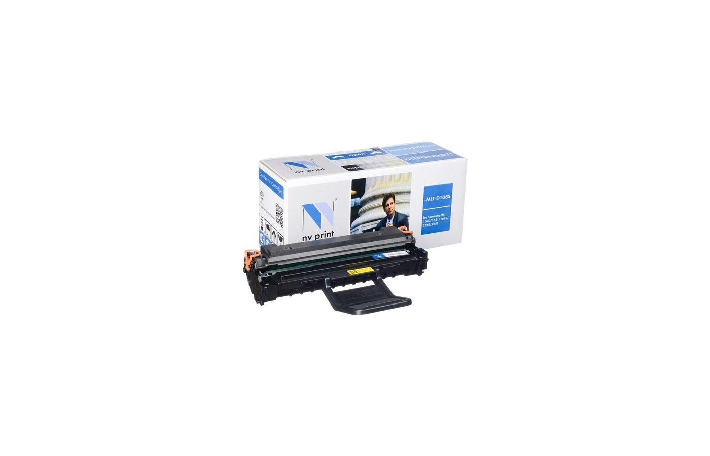 Картридж лазерный NV-Print совместимый MLT-D108S для ML-1640/1641/1645/2240/2241. Чёрный. 1500 страниц.