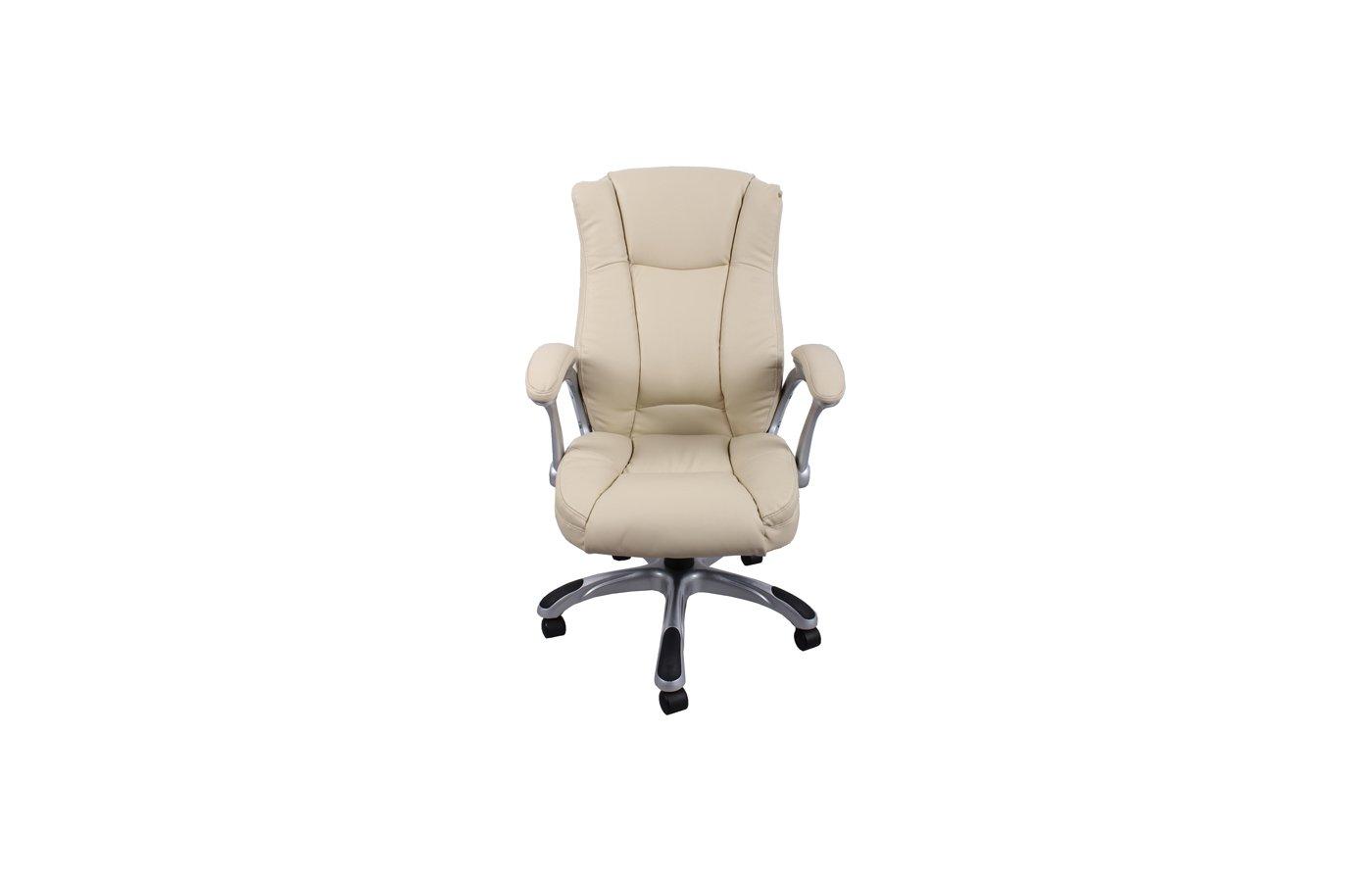 College Кресло руководителя HLC-0631-1, бежевый, экокожа, 120 кг, подлокотники пластик/кожа, крестов