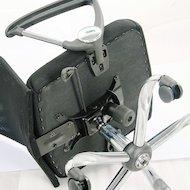 Фото College Кресло руководителя H-935L-2 Черный, ткань сетчатый акрил, 120 кг, крестовина хром/металл, п