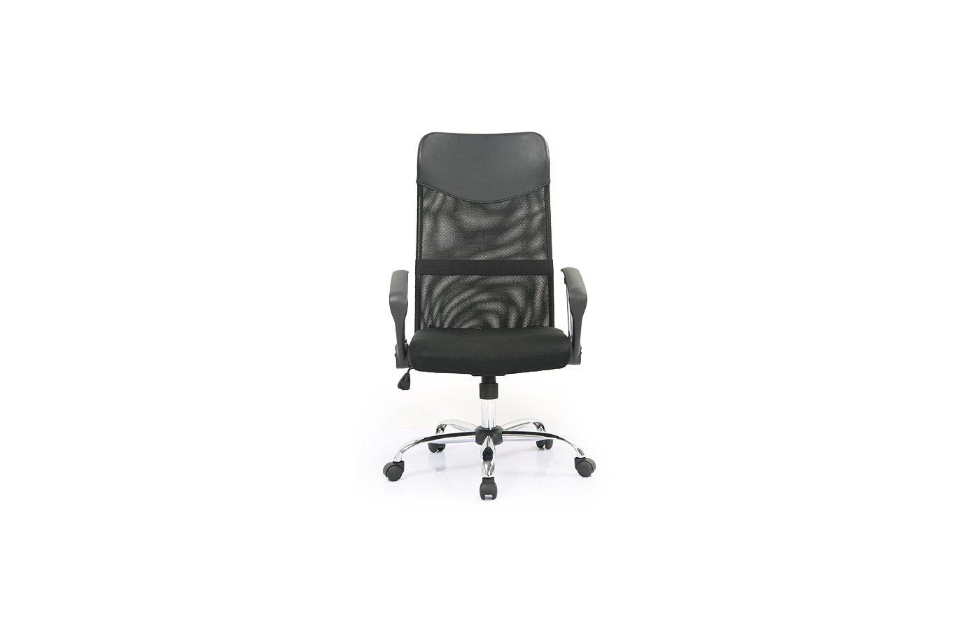 College Кресло руководителя H-935L-2 Черный, ткань сетчатый акрил, 120 кг, крестовина хром/металл, п