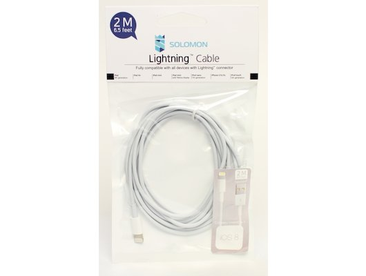 Кабель Solomon Lightning 8-pin для Apple (2м.)