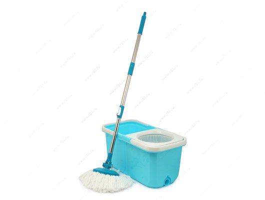 Инвентарь для уборки VETTA 407-033 Набор МОП ведро складное 9.6.л. швабра доп.насадка. принцип отж. Юла пластик