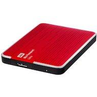"""Фото Внешний жесткий диск Western Digital USB 3.0 1Tb WDBDDE0010BBY-EEUE My Passport Ultra (5400 об/мин) 2.5"""" красный"""