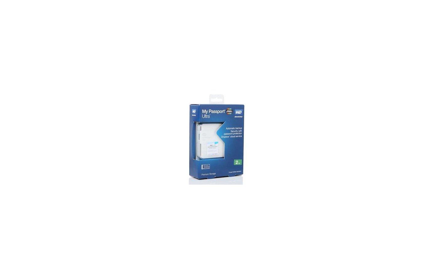 Внешний жесткий диск Western Digital WDBNFV0020BWT-EEUE USB 3.0 2Tb My Passport Ultra (5400 об/мин) 2.5 белый