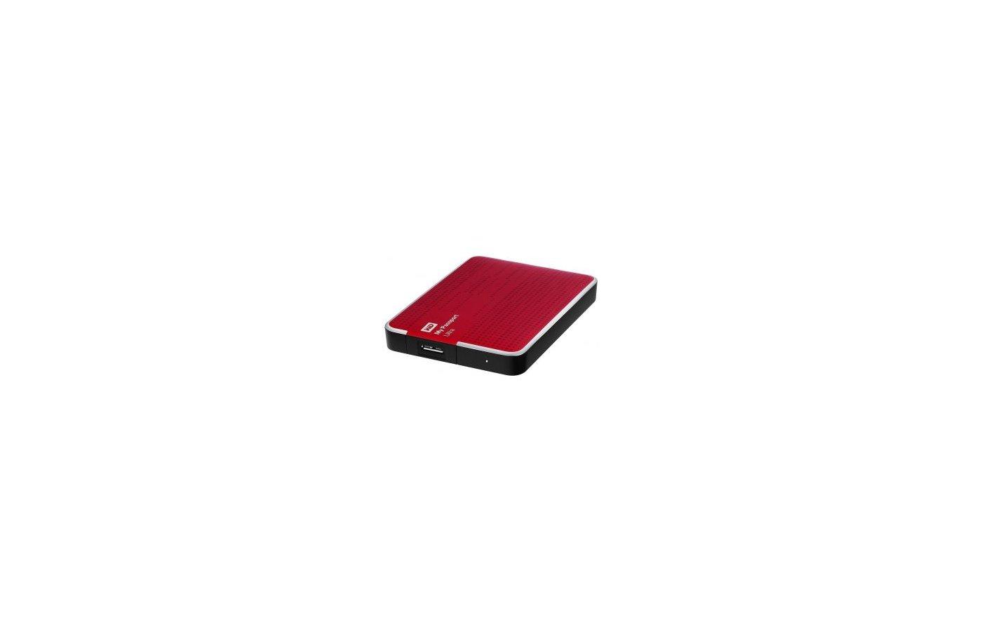"""Внешний жесткий диск Western Digital USB 3.0 2Tb WDBNFV0020BBY-EEUE My Passport Ultra (5400 об/мин) 2.5"""" красный"""