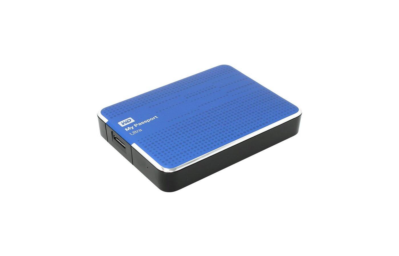 "Внешний жесткий диск Western Digital USB 3.0 2Tb WDBNFV0020BBL-EEUE My Passport Ultra (5400 об/мин) 2.5"" синий"
