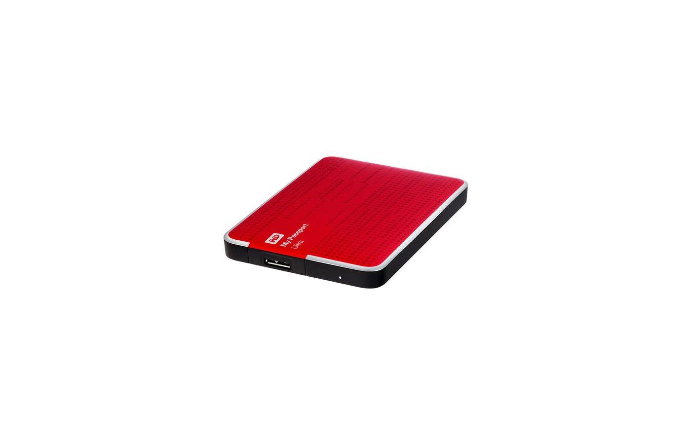 """Внешний жесткий диск Western Digital USB 3.0 1Tb WDBDDE0010BBY-EEUE My Passport Ultra (5400 об/мин) 2.5"""" красный"""
