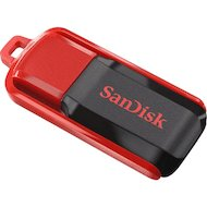 Флеш-диск USB 2.0 Sandisk 16Gb Cruzer Switch SDCZ52-016G-B35 черный/красный