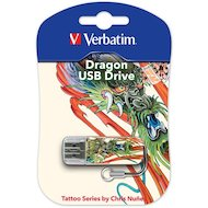 Фото Флеш-диск Verbatim 16Gb Store n Go Mini Tattoo Dragon 49888 USB2.0 белый